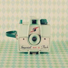Vintage green camera