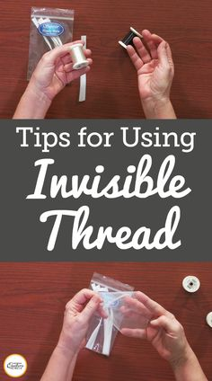 Using invisible thread can be tricky when working on a quilt project. This video gives a few helpful tips on when to use the thread and the type you should look for. Quilting Thread, Sewing Stitches, Quilting Tips, Quilting Tutorials, Machine Quilting, Sewing Tutorials, Sewing Projects, Sewing Lessons, Sewing Class