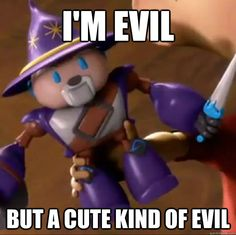 I'm evil but a cute kind of evil