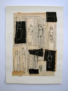 happenings  an original mixed media collage by cathycullis on Etsy, £45.00