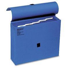 Wilson Jones ColorLife 5 1/4 Inch Expansion File, Five Pockets, Letter, Dark Blue