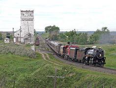 Grain Elevator and Train