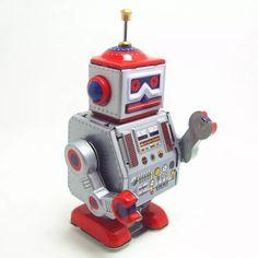 Classic collection Retro Clockwork Wind up Metal Walking Tin repairman robot recall Mechanical toy kids christmas birthday gift Christmas Gifts For Kids, Christmas Birthday, Birthday Gifts, All Toys, Kids Toys, Vinyl Dolls, Classic Toys, Classic Collection, Tin