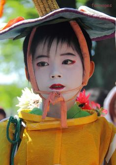 a child of Gion Festival in Kyoto,Japan@祇園祭・花傘巡行のお稚児さん