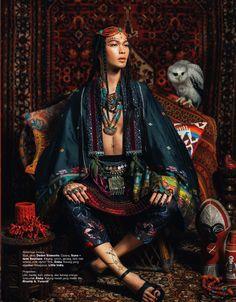 Harper's BAZAAR Indonesia Photography Nicoline Patricia Malina Model Darell Ferhostan Foto Fashion, Tribal Fashion, New Fashion, Womens Fashion, Bohemian Fashion, Fashion Tips, Fotografie Portraits, Portrait Photography, Fashion Photography