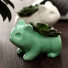 Pokemon Bulbasaur Flowerpot Anime Cute Home Decorative Ceramic Art Flower Pots