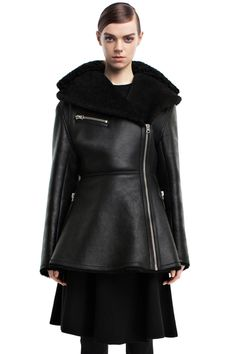 25 Black Leather Jackets For Instant Street Cred #refinery29  http://www.refinery29.com/best-leather-jackets#slide14