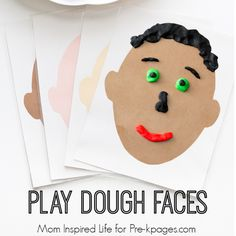 Play Dough Faces Activity--This site has a lot of great themes Social Emotional Activities, Emotions Activities, Playdough Activities, Play Doh Fun, Play Dough, Preschool Crafts, Crafts For Kids, Pre K Pages, Do It Yourself Crafts