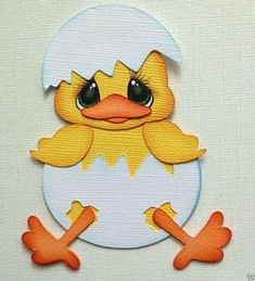 Resultado de imagen para imagenes de la gallina en goma eva Scrapbook Embellishments, Foam Crafts, Scrapbook Paper Crafts, Cute Cards, Paper Piecing, Easter Crafts, Paper Art, Creations, Easter Chick