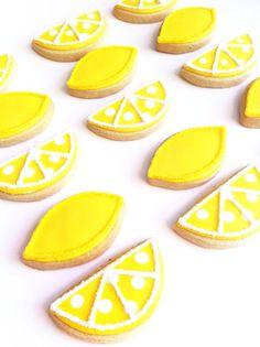Decorated sugar cookie shower favor treat citrus theme dessert ..Turn Lemons into Lemonade...1/2 by SunshineBakes, $10.00