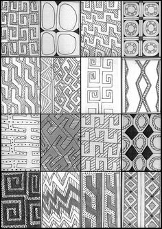 """Arte Ind[ígena: Desenhos Tradicionais dos Índios Karajá"" Arte Tribal, Tribal Art, Indian Patterns, Textures Patterns, Pattern Art, Pattern Design, African Textiles, Body Drawing, Indigenous Art"