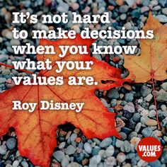 It's not hard to make decisions when you know what your values are. Bad Day Quotes, Positive Quotes, Motivational Quotes, Value Quotes, Best Quotes, Funny Quotes, Classroom Quotes, Quotes For Kids, Kid Quotes