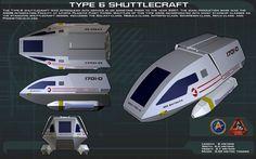 Type 6 Shuttlecraft ortho [New] by unusualsuspex.deviantart.com on @DeviantArt