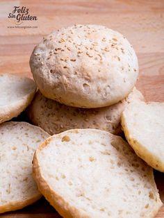 Receta de pan de hamburguesa sin gluten fácil. Descubre las técnicas e ingredientes y hazlo tú mismo. Para celiacos y no celiacos. Tapas, Pan Sin Gluten, Sem Lactose, Gluten Free Baking, Bread, Food, Healing, Pastel, Fitness