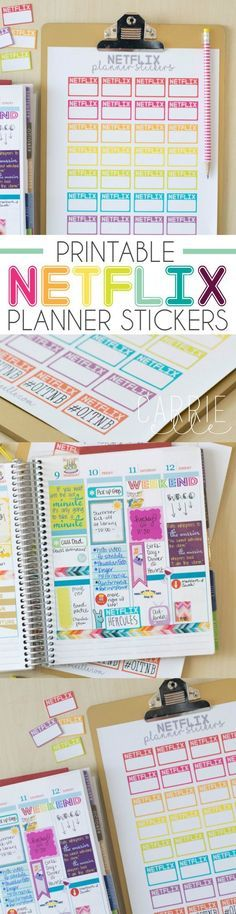 Printable Netflix Planner Stickers - these are so fun! #StreamTeam