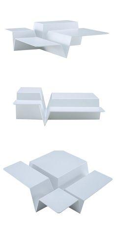 Low square coffee table CUTS by ROSET ITALIA | #design Philippe Nigro @ligneroset