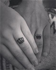king queen wedding ring tattoo