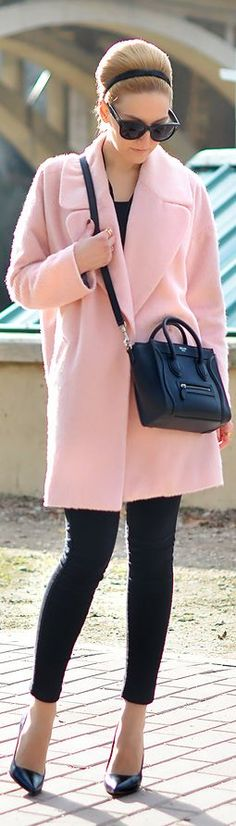 Pink coats are everywhere. I want one.