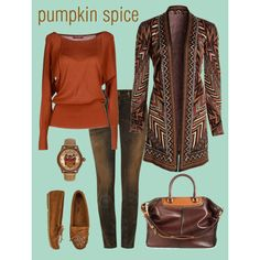 """""""pumpkin spice"""" by julie-price-thiede on Polyvore"""