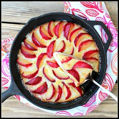 Plum Skillet Cake by @Shirley Goh