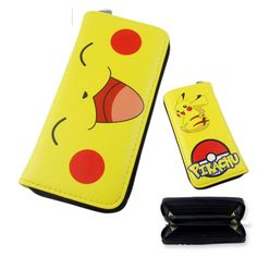 Anime Pokemon Pikachu Leather Long Wallet Card Holder Purse Handbag Bag Cartoon long zipper wallet For boys & girls, Men & Women. Size: 18 * 8.5 * 2 cm. Double Side Anime Cosplay Wallet. Material: PU Leather material, soft, wear-resisting, cold resistant, ageing resistance, comfortable feel. Application: shopping, school, travel, sports, office, easily carrying and durable. This is a very unique and cute wallet, it has enough space to hold your cards and money. So it meets all your!! This...