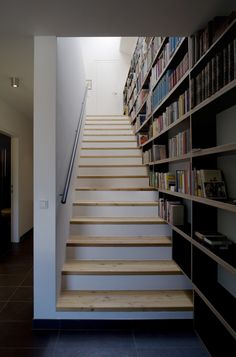 Image detail for -Wooden House Design interior staircase with bookcase Wooden House . Staircase Bookshelf, Stairway Storage, Interior Staircase, Curved Staircase, Staircase Design, Bookshelf Design, Wood House Design, Mobile Home Makeovers, House Stairs