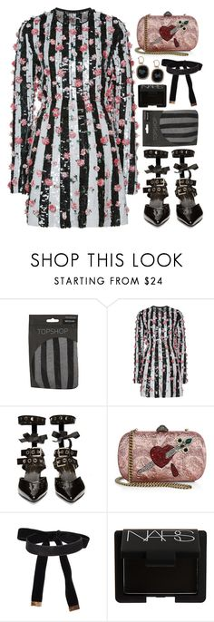 """""""Sin título #1446"""" by meelstyle ❤ liked on Polyvore featuring Topshop, Giambattista Valli, Robert Clergerie, Gucci, Salvatore Ferragamo, Cybele and NARS Cosmetics"""
