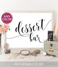 Dessert bar sign Wedding printable Black table decor Reception table decor Dessert table sign Bridal shower sign Instant download wedding