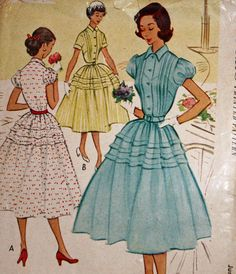 Vintage 1950s Sewing Pattern McCall's 8953 Juniors'