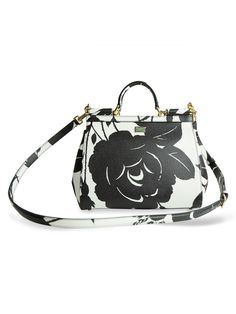 Dolce & Gabbana | Multicolor Black And White Sicily Bag | Lyst