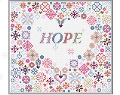 CROSS STITCH KIT Hope in Your Heart Sampler by Riverdrift House