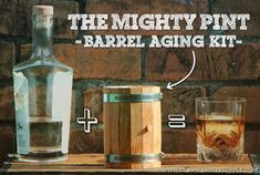 How to Make Your Own Aged Whiskey - Barrel Aged Whiskey Kit - Homemade Whiskey, Homemade Alcohol, Homemade Liquor, Make Your Own Whiskey, How To Make Beer, Beer Brewing Kits, Brewing Recipes, Wine Bottle Opener, Wine Bottle Holders