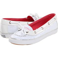 Sperry white sequin top-siders