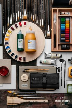 Jackson's range of products showcases the highest quality art materials from across the globe, all at the lowest prices. Art Studio Room, Art Studio At Home, Art Supplies Storage, Art Hoe Aesthetic, Art And Craft Materials, Art Desk, Art Studios, Watercolor Art, Design Art