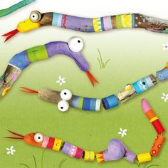 Pia Pedevilla Pia Pedevilla The post Pia Pedevilla appeared first on Werkstatt ideen. Rainbow Loom, Jewelry Storage Solutions, Diy And Crafts, Crafts For Kids, Painted Driftwood, Painted Sticks, Eric Carle, Aboriginal Art, Nature Crafts