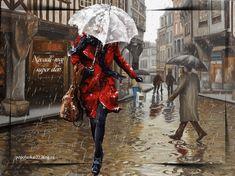 Gif Photo, Lightning Bolt, Rain, Animation, Anime, Gifs, Painting, Rain Fall, Painting Art