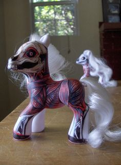 My Little Zombie Pony and Barbie of the Undead Creepy Toys, Creepy Cute, Scary, Zombies, Zombie Style, Doll Repaint, Designer Toys, Doll Toys, Plush Dolls
