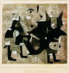 The artwork Ueberladener Teufel, - Paul Klee we deliver as art print on canvas, poster, plate or finest hand made paper. Kunst Picasso, Art Picasso, William Turner, Abstract Watercolor Art, Abstract Nature, Watercolour, Modern Art, Contemporary Art, Paul Klee Art