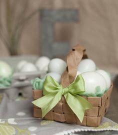 Créez vos petits paniers pour la fête de Pâques !