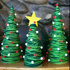 christmas yarn   Yarn Christmas trees!   Christmas Ideas