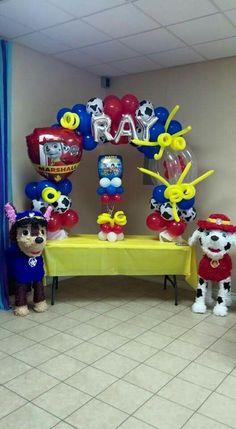 Original idea de decoración para fiesta de la Patrulla Canina