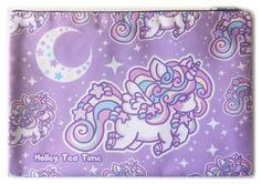 ★ Rainbow Stardust Unicorn - Large Zipper Bag ★ cosmetic bag, makeup bag, pencil case ★ Cute Makeup Bags, Pony Horse, Girls Without, Creepy Cute, Purple Haze, Zipper Bags, Pastel Goth, Tea Time, Tea Party