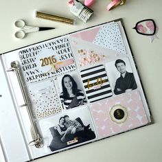 New year, new title page for #projectlife album. I used @beckyhigginsllc…