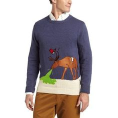 Men's Reindeer Hangover Ugly Christmas Sweater