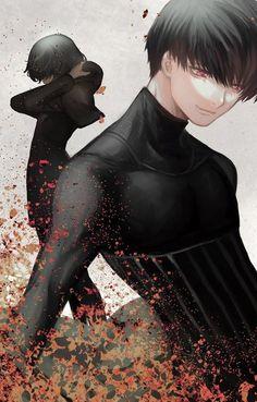 Ken Kaneki and Touka Kirishima Tokyo Ghoul :re  Credits to the artist