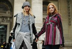 Street Style: Sasha Pivovarova [Part - The Front Row View Vlada Roslyakova, Sasha Pivovarova, Model Street Style, Russian Models, Ruffle Blouse, Leather Jacket, Plaid, Style Inspiration, Tartan