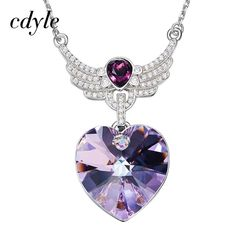 New Fashion Jewelry Women/'s Violet Akoya Perle Argent Sterling Collier Pendentif