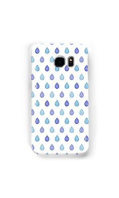 """Blue raindrops"" Samsung Galaxy Cases & Skins by @savousepate on @redbubble #pattern #raindrops #drops #droplets #blue #turquoise #galaxycase #galaxyskin #phonecase #phoneskin"