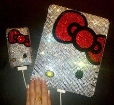 Hello Kitty iPad & iPhone bling/crystals case