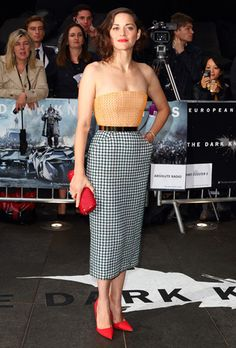 """Marion Cotillard in a dress by Dior Couture  for the premiere of """"The Dark Knight Rises"""""""
